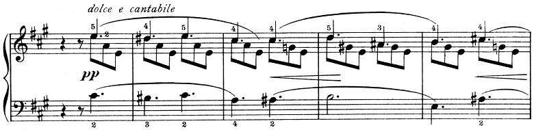 ピエツォンカ「社交ダンス第1曲「タランテラ」イ短調」ピアノ楽譜3