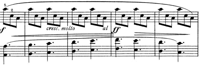 ピエツォンカ「社交ダンス第1曲「タランテラ」イ短調」ピアノ楽譜4
