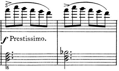 ピエツォンカ「社交ダンス第1曲「タランテラ」イ短調」ピアノ楽譜5