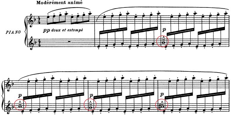 ドビュッシー「子供の領分第4曲「雪は踊っている」L.113-4」ピアノ楽譜1