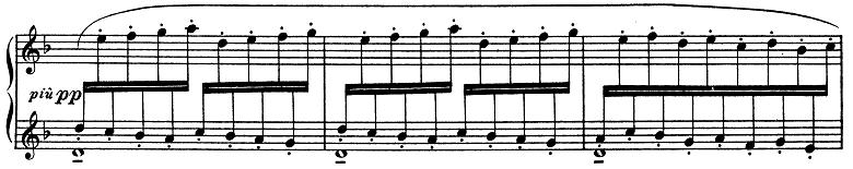 ドビュッシー「子供の領分第4曲「雪は踊っている」L.113-4」ピアノ楽譜2