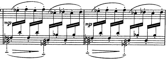 ドビュッシー「子供の領分第4曲「雪は踊っている」L.113-4」ピアノ楽譜3
