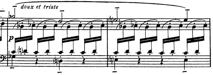 ドビュッシー「子供の領分第4曲「雪は踊っている」L.113-4」ピアノ楽譜4