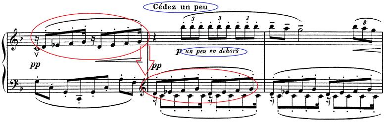 ドビュッシー「子供の領分第4曲「雪は踊っている」L.113-4」ピアノ楽譜5