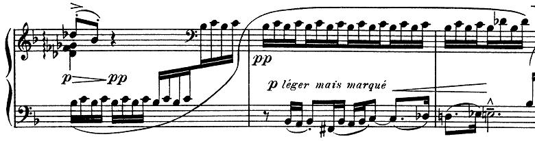ドビュッシー「子供の領分第4曲「雪は踊っている」L.113-4」ピアノ楽譜6