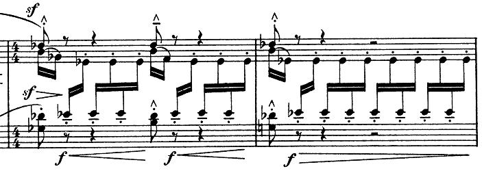 ドビュッシー「子供の領分第4曲「雪は踊っている」L.113-4」ピアノ楽譜7