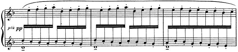ドビュッシー「子供の領分第4曲「雪は踊っている」L.113-4」ピアノ楽譜8