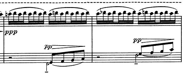 ドビュッシー「子供の領分第4曲「雪は踊っている」L.113-4」ピアノ楽譜9