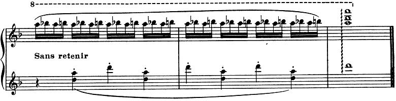 ドビュッシー「子供の領分第4曲「雪は踊っている」L.113-4」ピアノ楽譜10