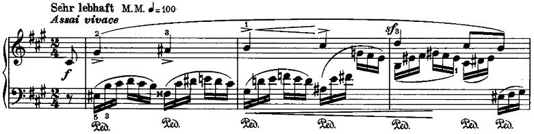 シューマン「ノヴェレッテン第8番嬰ヘ短調Op.21-8」ピアノ楽譜1
