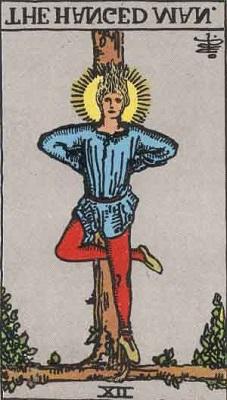 タロットカード「吊るされた男」の逆位置