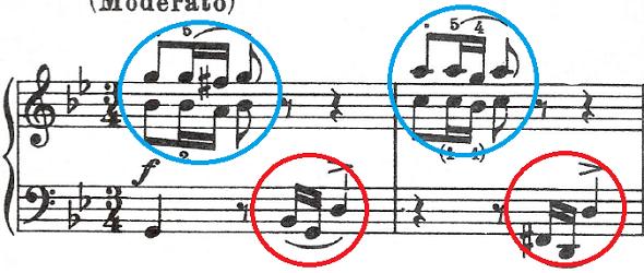 バッハ(C.P.E)「アンナ・マクダレーナ・バッハの音楽帳「ポロネーズト短調BWV Ahn.123」」ピアノ楽譜1