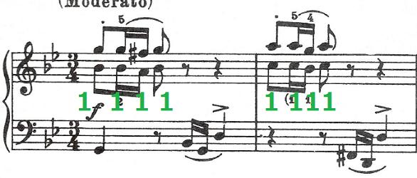 バッハ(C.P.E)「アンナ・マクダレーナ・バッハの音楽帳「ポロネーズト短調BWV Ahn.123」」ピアノ楽譜2