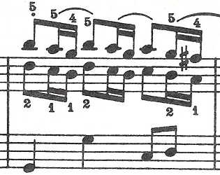 バッハ(C.P.E)「アンナ・マクダレーナ・バッハの音楽帳「ポロネーズト短調BWV Ahn.123」」ピアノ楽譜3