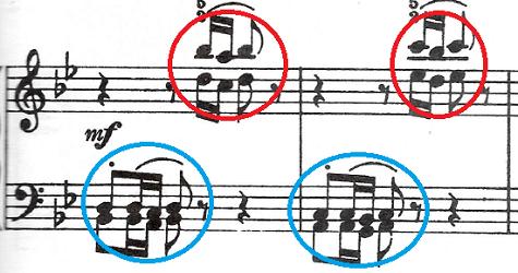バッハ(C.P.E)「アンナ・マクダレーナ・バッハの音楽帳「ポロネーズト短調BWV Ahn.123」」ピアノ楽譜4