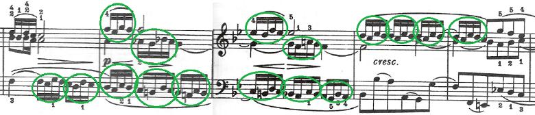 バッハ(C.P.E)「アンナ・マクダレーナ・バッハの音楽帳「ポロネーズト短調BWV Ahn.123」」ピアノ楽譜5