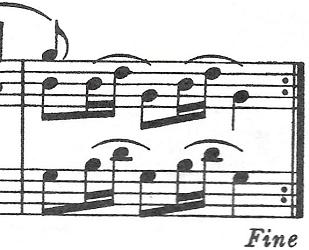 バッハ(C.P.E)「アンナ・マクダレーナ・バッハの音楽帳「ポロネーズト短調BWV Ahn.123」」ピアノ楽譜7