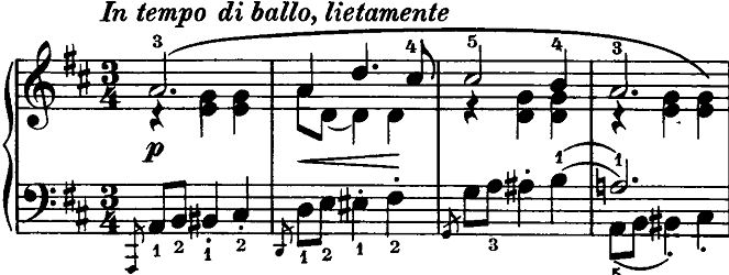 シューマン「ノヴェレッテン第4番ニ長調Op.21-4」ピアノ楽譜1