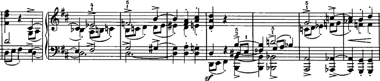 シューマン「ノヴェレッテン第4番ニ長調Op.21-4」ピアノ楽譜3