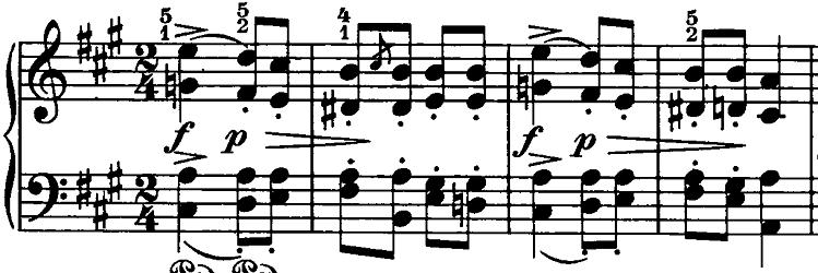 シューマン「ノヴェレッテン第6番イ長調Op.21-6」ピアノ楽譜1