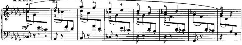 シューマン「ノヴェレッテン第6番イ長調Op.21-6」ピアノ楽譜2