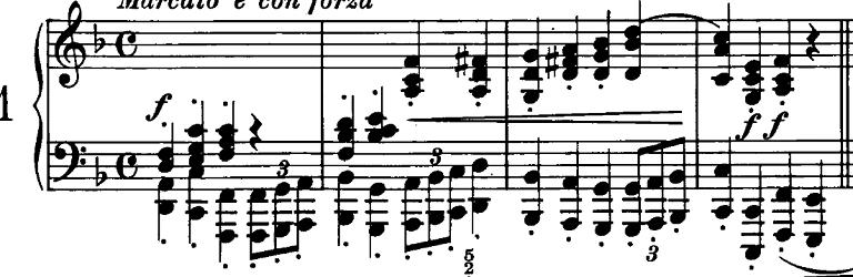 シューマン「ノヴェレッテン第1番ヘ長調Op.21-1」ピアノ楽譜