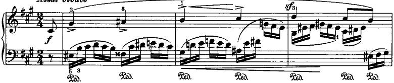 シューマン「ノヴェレッテン第8番嬰ヘ短調Op.21-8」ピアノ楽譜