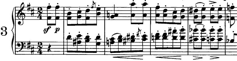 シューマン「ノヴェレッテン第3番ニ長調Op.21-3」ピアノ楽譜1