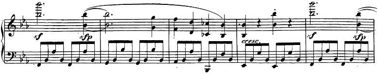 ベートーヴェン「ピアノソナタ第26番「告別」変ホ長調Op.81a第1楽章」楽譜2
