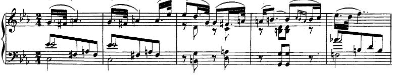 ベートーヴェン「ピアノソナタ第26番「告別」変ホ長調Op.81a第2楽章」楽譜1