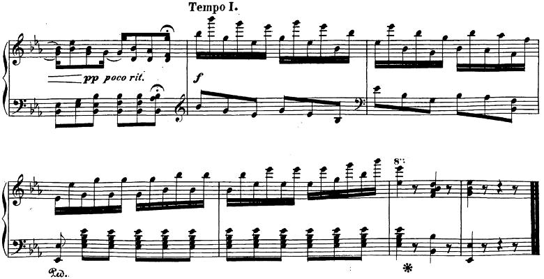 ベートーヴェン「ピアノソナタ第26番「告別」変ホ長調Op.81a第3楽章」楽譜5
