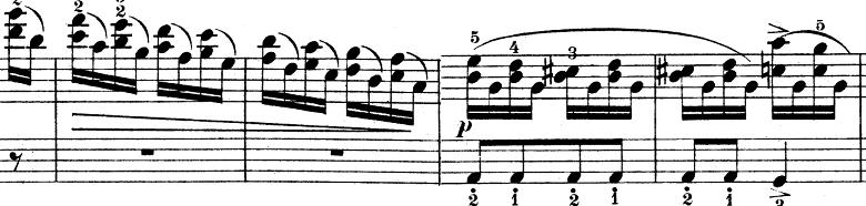 ウェーバー「ピアノソナタ第1番ハ長調Op.24第4楽章「無窮動」」楽譜2