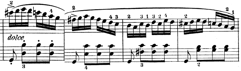 ウェーバー「ピアノソナタ第1番ハ長調Op.24第4楽章「無窮動」」楽譜5