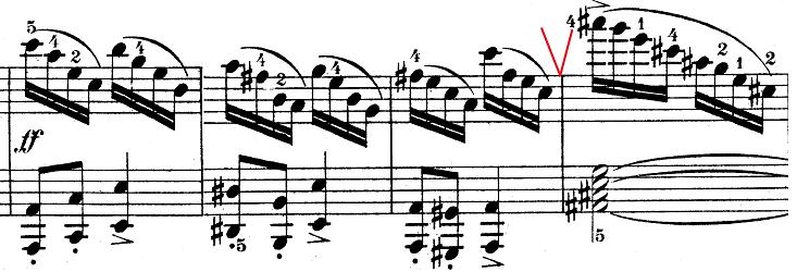 ウェーバー「ピアノソナタ第1番ハ長調Op.24第4楽章「無窮動」」楽譜6