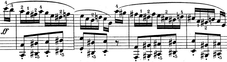 ウェーバー「ピアノソナタ第1番ハ長調Op.24第4楽章「無窮動」」楽譜9