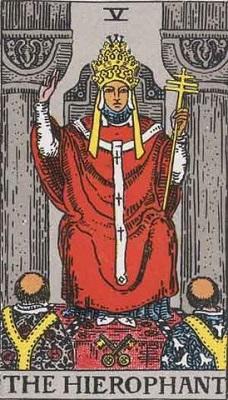 【5番:教皇(The Hierophant)】・・・道徳、規範意識