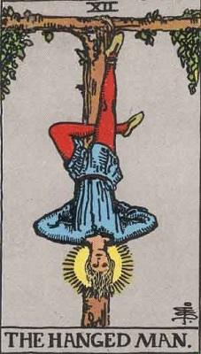 【12番:吊るされた男(The Hanged Man)】・・・辛抱、奉仕