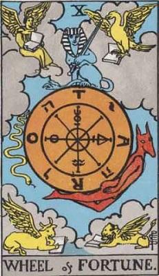 【10番:運命の輪(Wheel of Fortune)】・・・転機、チャンス