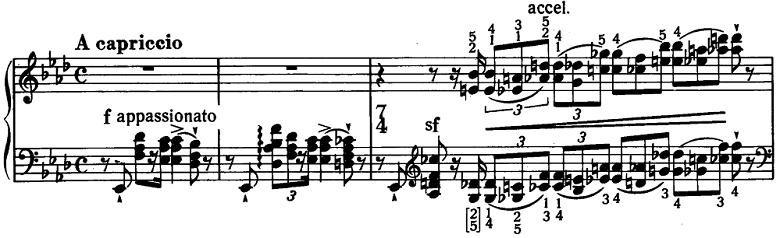 リスト「3つの演奏会用練習曲S.144「第1曲 悲しみ(Il lamento)」」ピアノ楽譜1