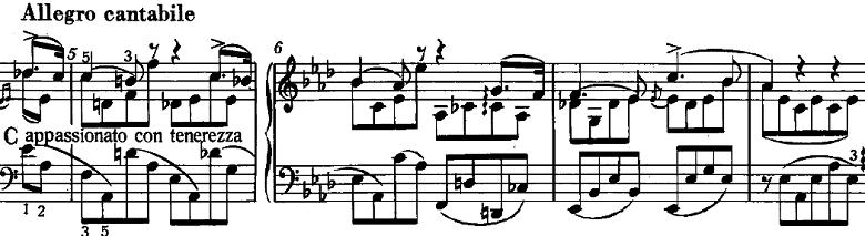 リスト「3つの演奏会用練習曲S.144「第1曲 悲しみ(Il lamento)」」ピアノ楽譜2