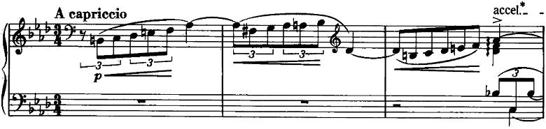 リスト「3つの演奏会用練習曲S.144「第2曲 軽やかさ(La leggierezza)」」ピアノ楽譜1