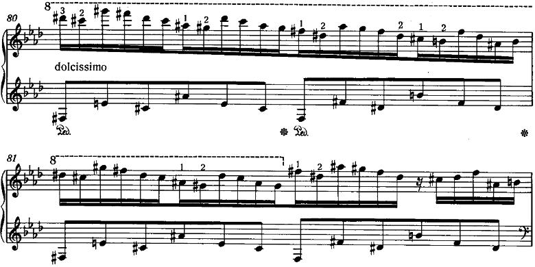 リスト「3つの演奏会用練習曲S.144「第2曲 軽やかさ(La leggierezza)」」ピアノ楽譜5