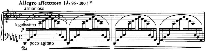 リスト「3つの演奏会用練習曲S.144「第3曲 ため息(Un Sospiro)」」ピアノ楽譜1