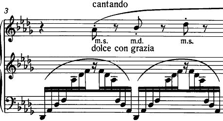 リスト「3つの演奏会用練習曲S.144「第3曲 ため息(Un Sospiro)」」ピアノ楽譜2