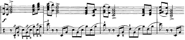 チャイコフスキー「四季11月「トロイカ」ホ長調」ピアノ楽譜3