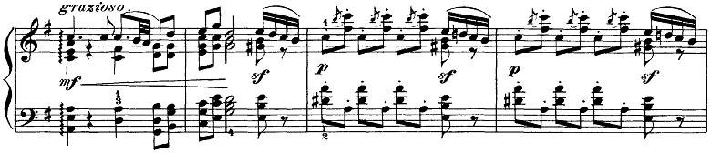 チャイコフスキー「四季11月「トロイカ」ホ長調」ピアノ楽譜4