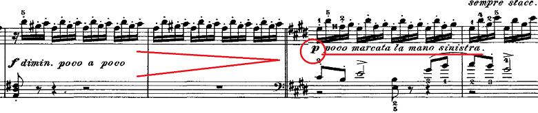 チャイコフスキー「四季11月「トロイカ」ホ長調」ピアノ楽譜5