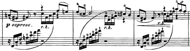 チャイコフスキー「四季11月「トロイカ」ホ長調」ピアノ楽譜6