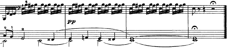 チャイコフスキー「四季11月「トロイカ」ホ長調」ピアノ楽譜7