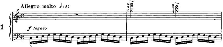 ツェルニー「50番練習曲Op.740」ピアノ楽譜1